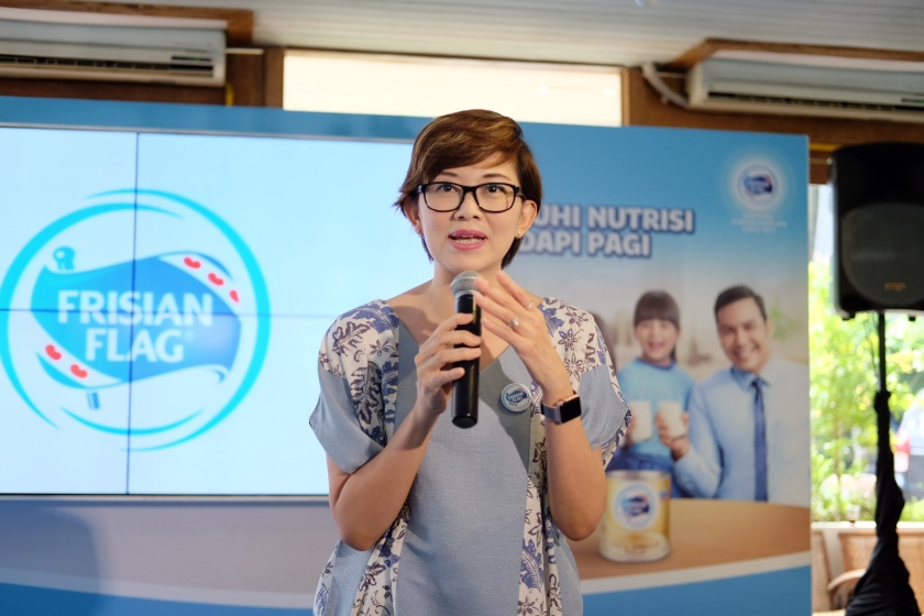 Head of Prepared Beverages Frisian Flag Indonesia, Ibu Tanti