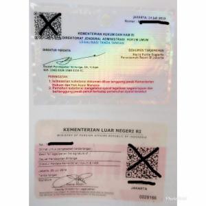 sticker legalisai dokumen visa