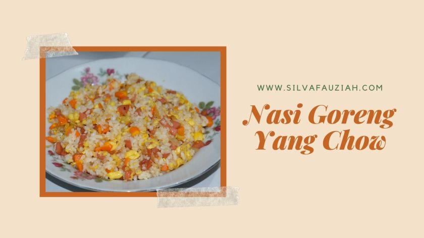nasi goreng yang chow silvafauziah blog