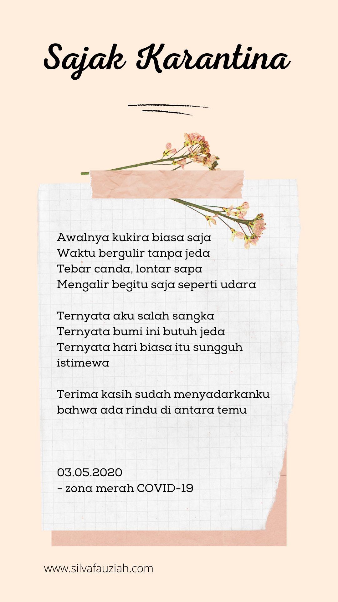sajak karantina silvafauziah blog rev